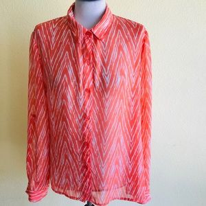 Kut from the Kluth Chevron Print Button Down Shirt